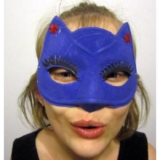 Masque Chat Bleu pvc souple