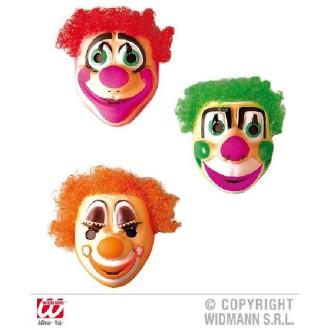 1 Masque clown avec cheveux assorti