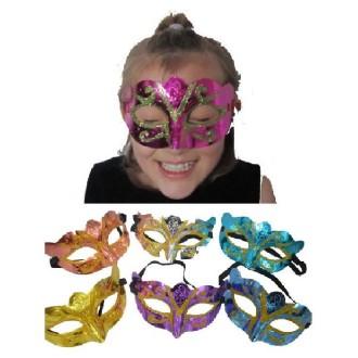 1 Masque Vénitien Jester ( couleurs assorties)