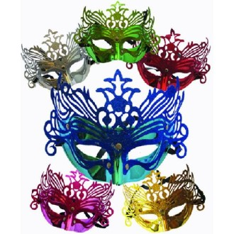 1 Masque Vénitien Luxe Pailleté (couleurs assorties)