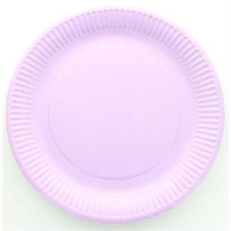 10 Assiettes cartonnées laquées parme jetables diam 23 cm
