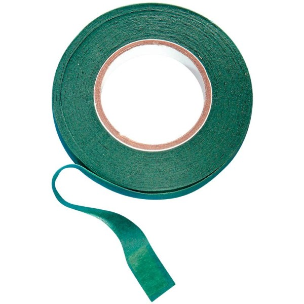 Bande florale vert olive 12,7 mm x 28 m - Photo n°1