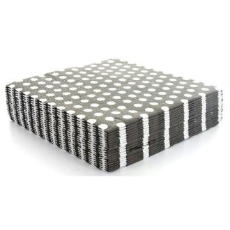 20 Serviettes noires à pois blancs - 33 x 33 cm