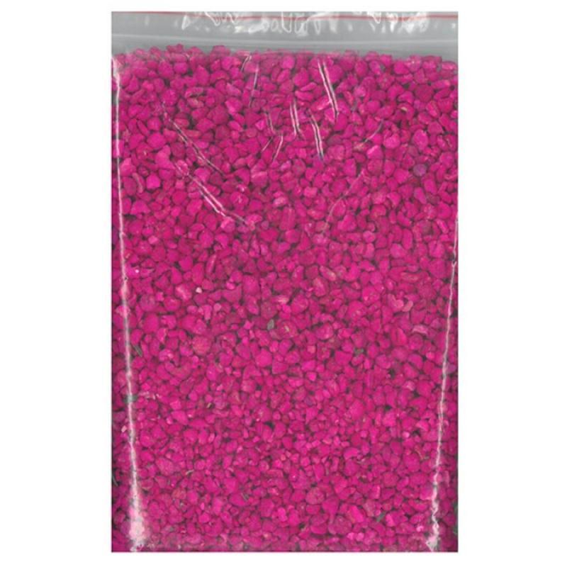 200 gr Gravier fuchsia décoratif parfumé 6/8 mm - Photo n°1