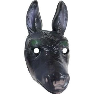 4 Masques âne PVC mixte 3D - 31 x 16 cm