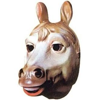 4 Masques cheval PVC 3D - 26 x 15 cm