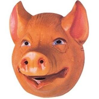 4 Masques cochon enfant pvc 3D -20 x 16 cm