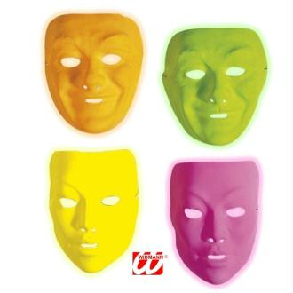 4 Masques fluo adulte (1 de chaque couleur )