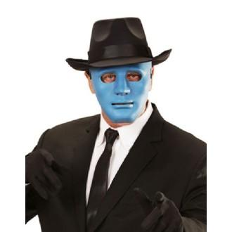 4 Masques rigides 3D bleus (17 x 18 cm)