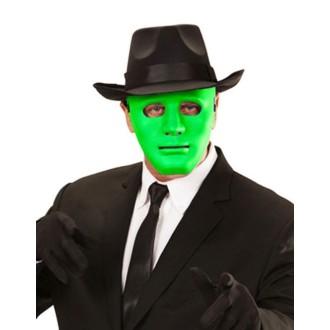 4 masques rigides 3D verts (17 x 18 cm)