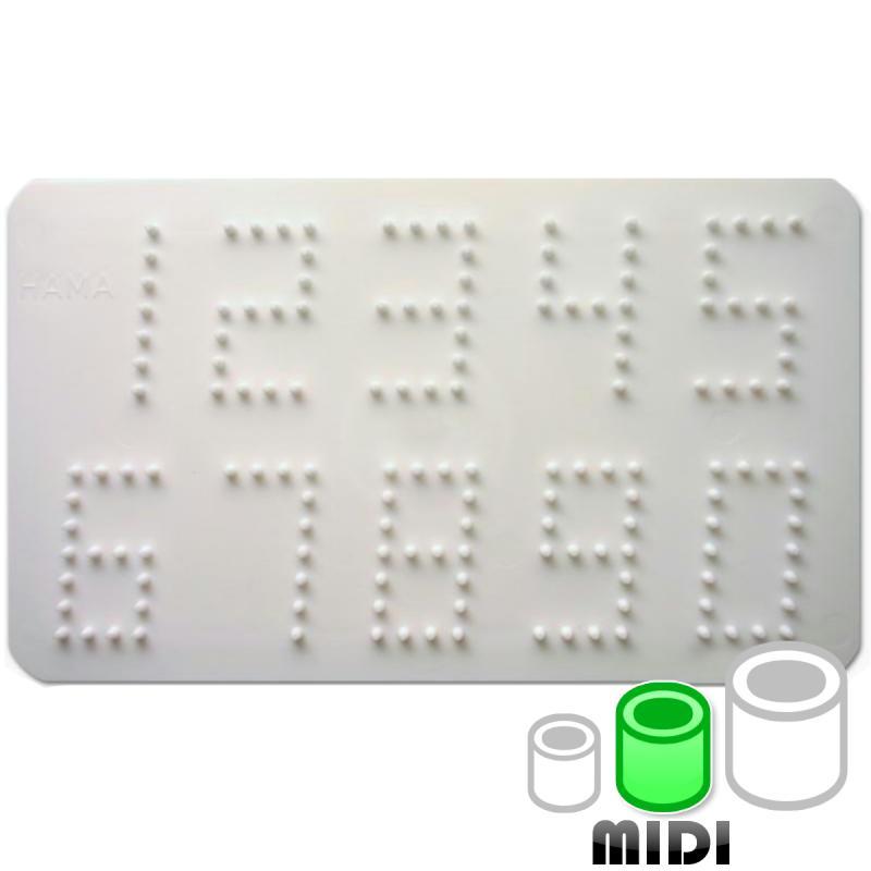 Plaque pour perles Hama Midi - Chiffre - Photo n°1