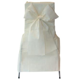 6 Noeuds de chaise blancs organza 275 x 18 cm