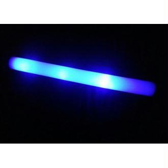 Bâton mousse lumineux bleu clignotant 48 cm
