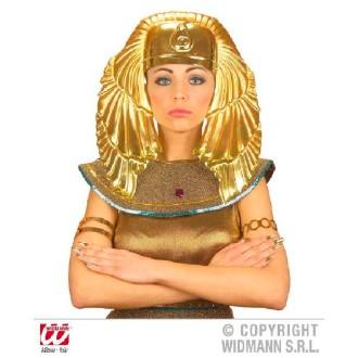 Coiffe dorée égyptienne PVC