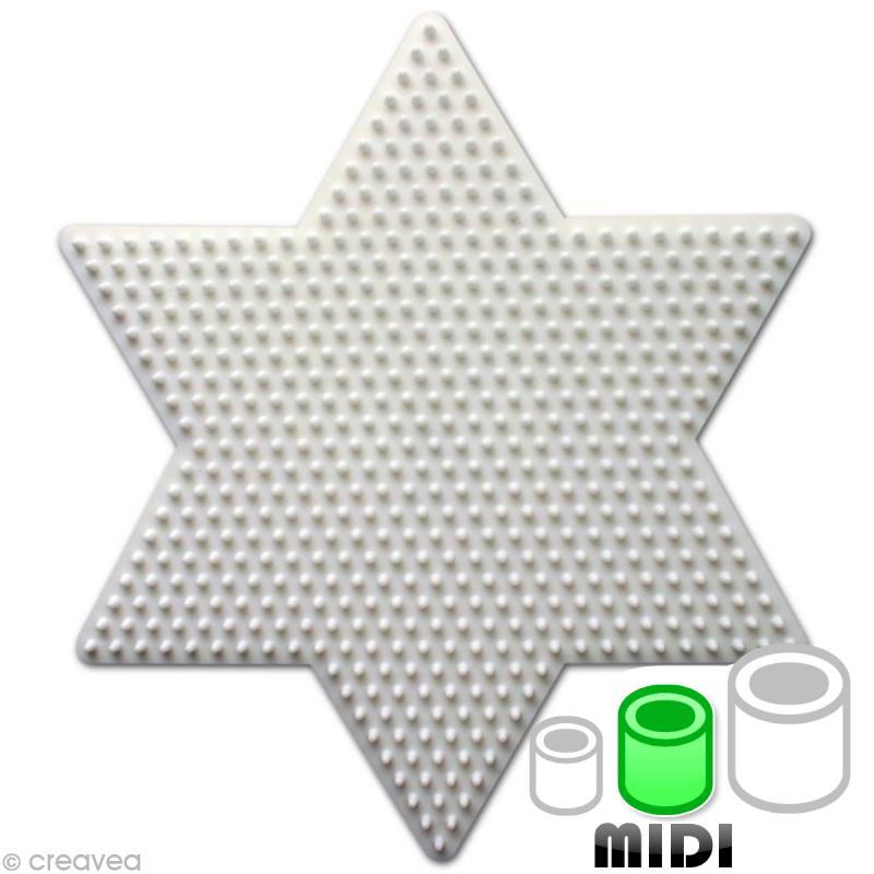Plaque pour perles Hama Midi - Etoile grand modèle - Photo n°1