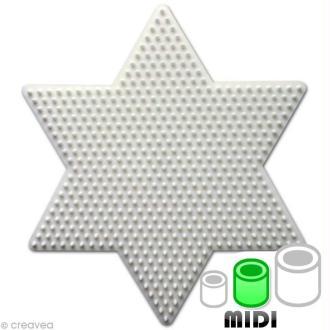 Plaque pour perles Hama Midi - Etoile grand modèle