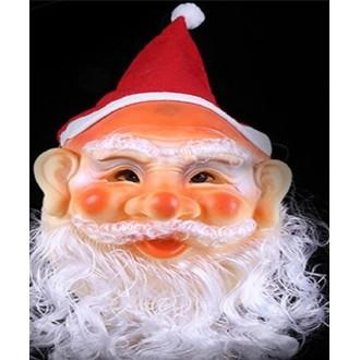 Masque de père noël avec bonnet et barbe caoutchouté