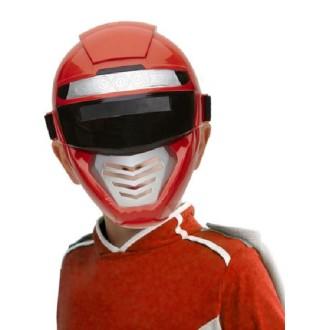 Masque robot enfant rouge