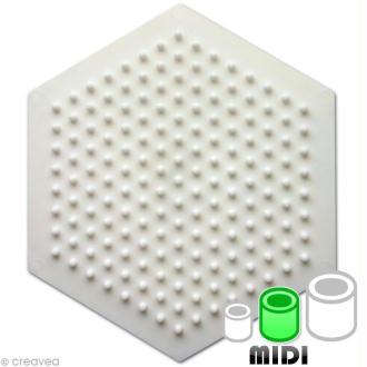Plaque pour perles Hama Midi - Hexagonale petit modèle