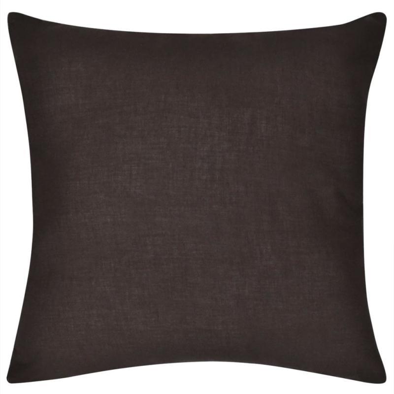 vidaxl housse de coussin en coton 4 pcs 80 x 80 cm marron coussins pour fauteuils et canap s. Black Bedroom Furniture Sets. Home Design Ideas