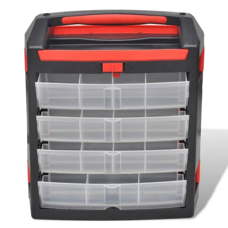 Set de 2 malettes de rangement avec compartiments bo te for Accessoire de rangement de cuisine