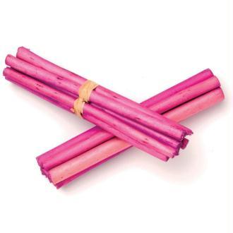 Tiges de bambou 13cm Rose - Lot de 3