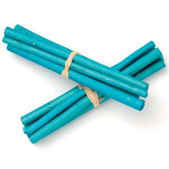Tiges de bambou 13cm Turquoise - Lot de 3