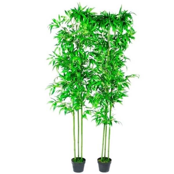 Lot De 2 Bambous Artificiels Décor Intérieur 190 Cm - Photo n°4