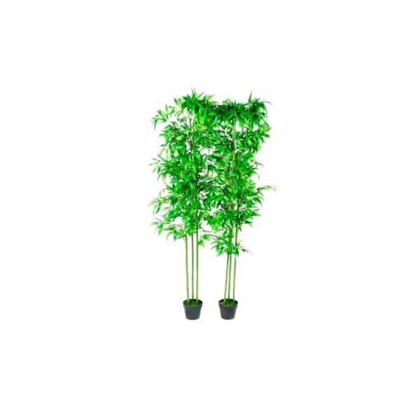 Lot De 2 Bambous Artificiels Décor Intérieur 190 Cm - Photo n°1
