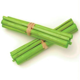 Tiges de bambou 13cm Vert - Lot de 3