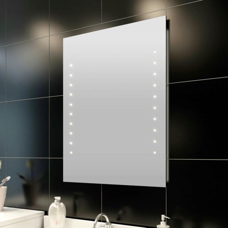 miroir de salle de bain avec clairage led 50 x 60 cm l x