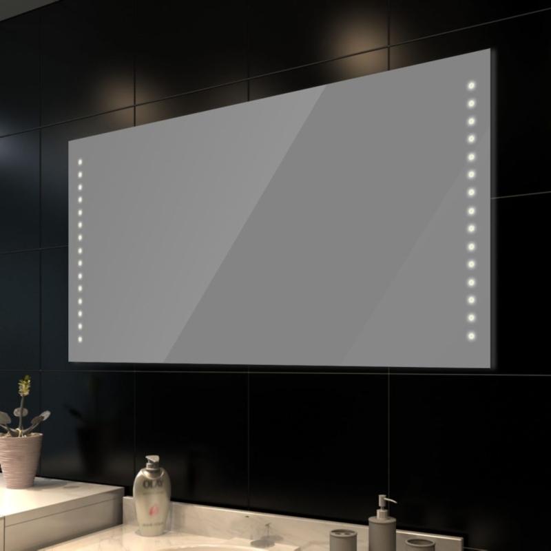 Miroir de salle de bain avec clairage led 100 x 60 cm l x for Produit pour salle de bain