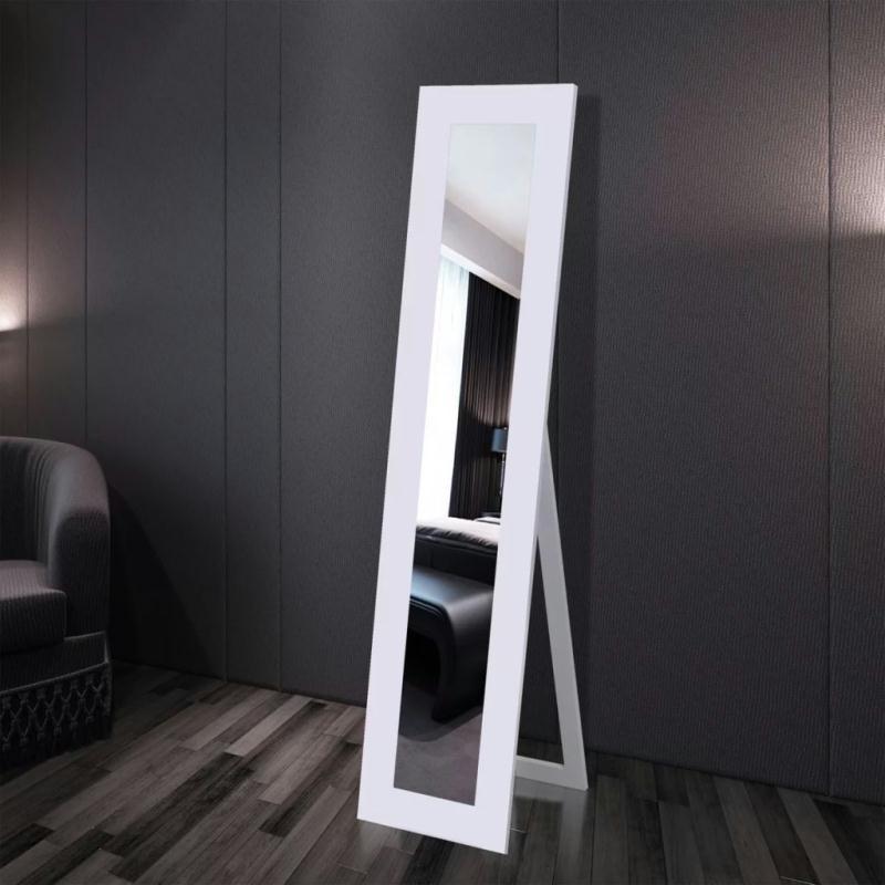 Miroir en pied blanc miroir adh sif creavea for Miroir en mosaique