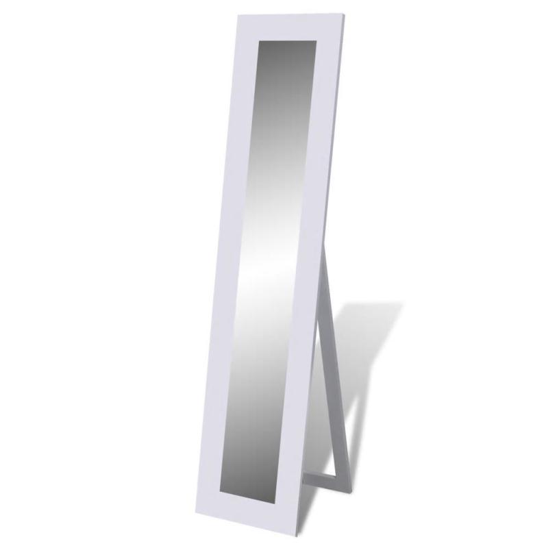 miroir en pied blanc miroir adh sif creavea