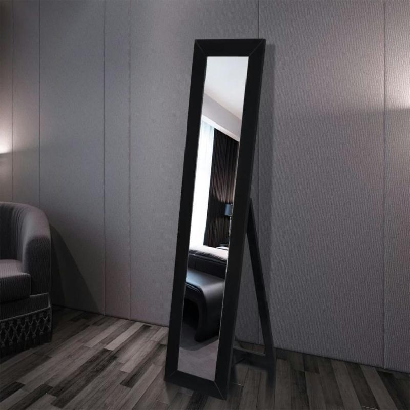 Miroir en pied noir miroir adh sif creavea for Refrigerateur beko noir miroir