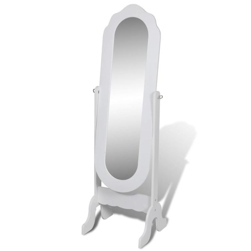 Miroir en pied blanc pivotant miroir adh sif creavea for Miroir en mosaique