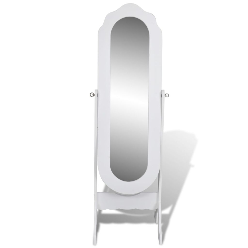 miroir en pied blanc pivotant miroir adh sif creavea