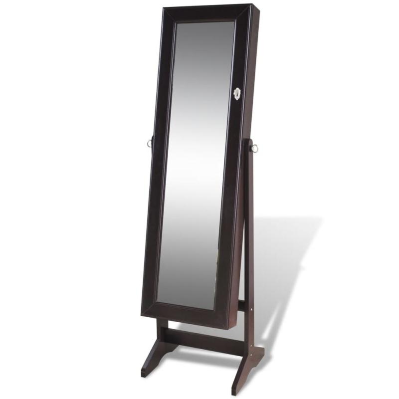 Armoire bijoux avec miroir brun miroir adh sif creavea for Casa miroir bijoux
