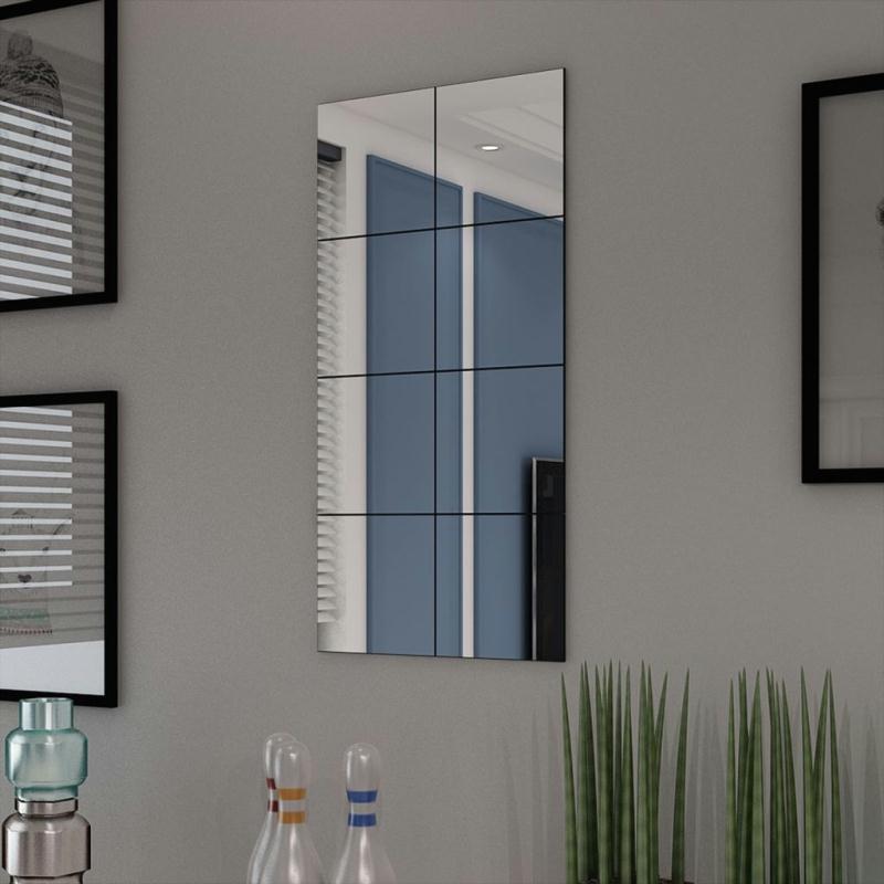 vidaxl carreaux de miroir verre sans cadre 8 pcs 20 5 cm