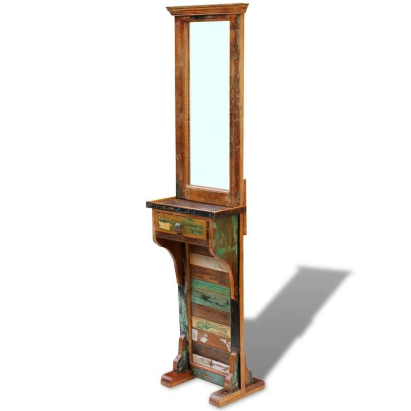 Vidaxl miroir de couloir bois de r cup ration massif 47 x for Miroir de la tauromachie