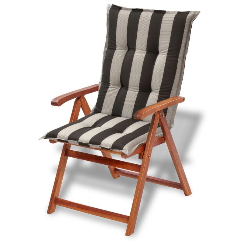 vidaxl coussins de si ge de jardin 6 pcs 120x52 cm bande fonc e coussins pour fauteuils et. Black Bedroom Furniture Sets. Home Design Ideas