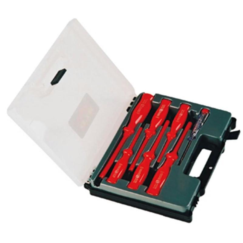 Set de tournevis avec tournevis testeur 7 pcs toolpack perceuses vi - Tournevis testeur phase ...