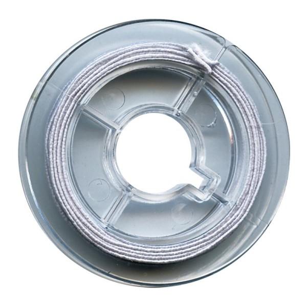 Fil élastique Blanc 0,6mm - 5m - Photo n°1