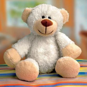 Kit peluche ours blanc Lea