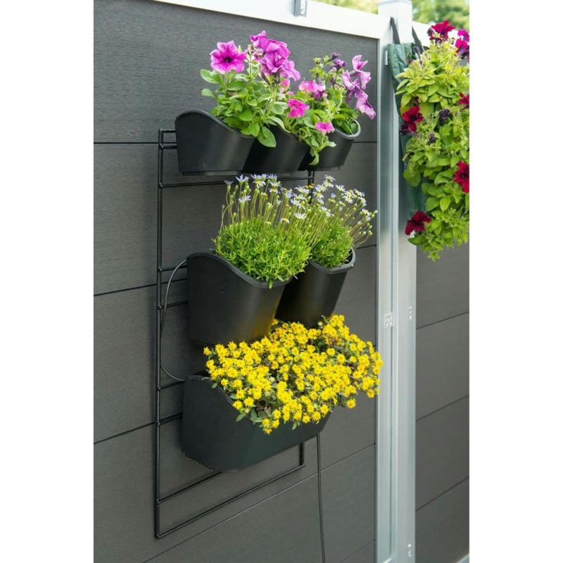 Nature jardini re verticale 48 x 84 cm noir pots et for Cache pot exterieur