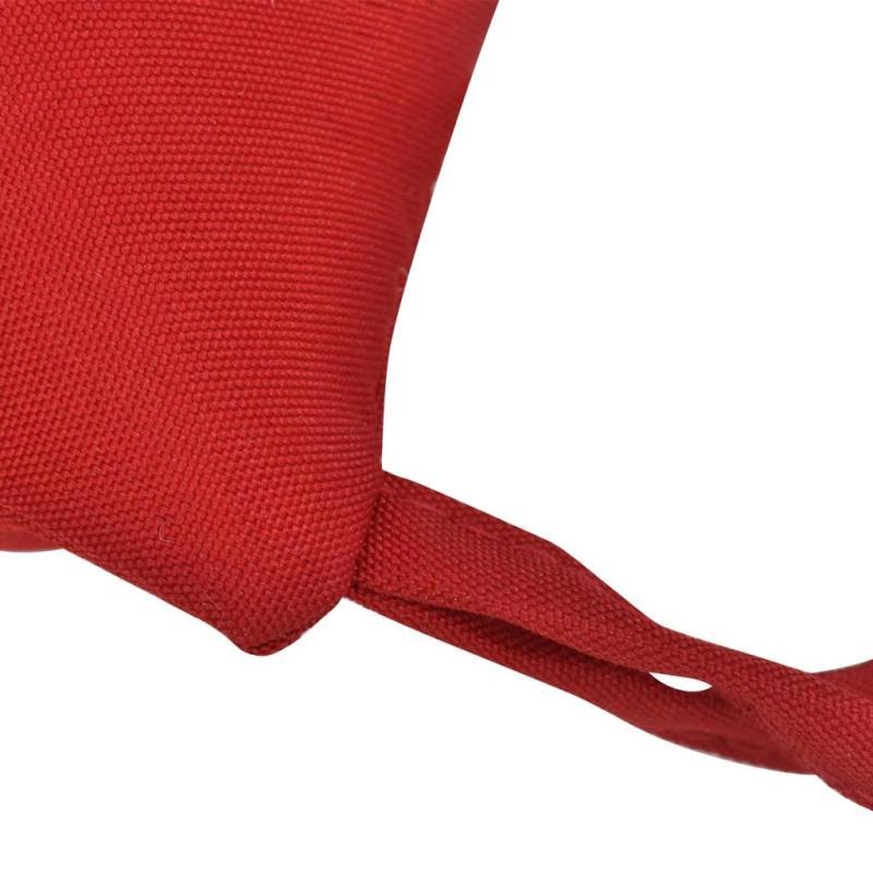 vidaxl coussin de chaise 4 pcs 40 x 40 x 8 cm rouge coussins pour fauteuils et canap s creavea. Black Bedroom Furniture Sets. Home Design Ideas