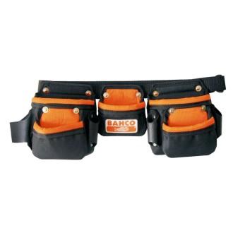 BAHCO Ceinture à outils Junior avec trois poches Noir 4750-JU3PB-1