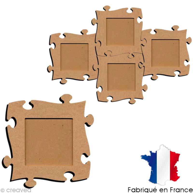 Cadre photo puzzle 19 cm - Photo n°1