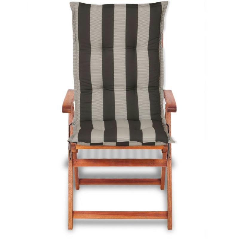 vidaxl coussins de si ge de jardin 4 pcs 120x52 cm bande fonc e coussins pour fauteuils et. Black Bedroom Furniture Sets. Home Design Ideas