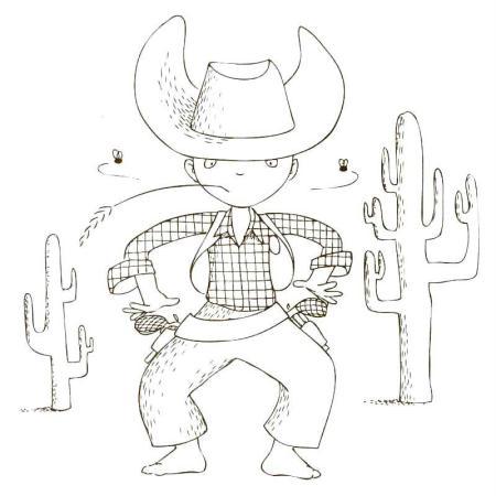 Cahier de coloriage cap canaille matteo le cowboy 80 - Dessin de cowboy ...